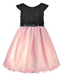 Pspeaches Stylish Dual Tone Party Dress - Pink & Black