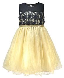 Pspeaches Stylish Dual Tone Party Dress - Ivory