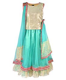 Pspeaches Elegant Lengha Choli - Green