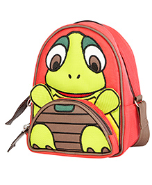 My Gift Booth Turtle Design Sling Bag - Red And Green
