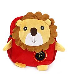 Lion Design Soft Bag - Red & Brown