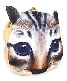 Cat Applique Soft Toy Bag - Brown And White
