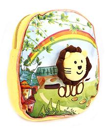 Lion Applique Soft Toy Bag - Yellow