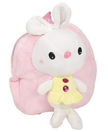 Rabbit Applique Soft Toy School Bag - Light Pink