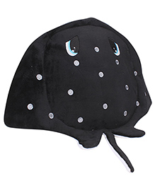 Fish Shaped School Soft Toy Bag - Black