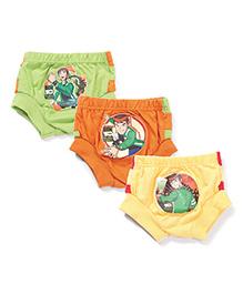 Ben 10 Printed Briefs Set of 3 - Green Yellow Orange