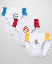 Doraemon Printed Briefs Set Of 3 - Yellow Blue Red