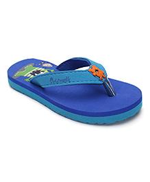 Cute Walk by Babyhug Flip Flop Printed Footbed - Royal & Teal Blue