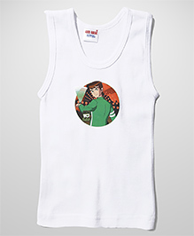 Ben 10 Printed Sleeveless Vest - White