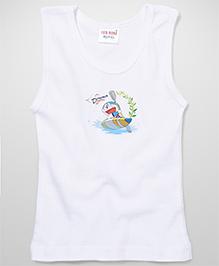 Doraemon Printed Vest - White