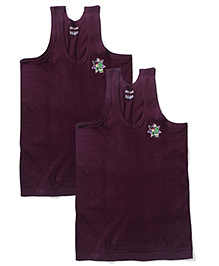 Ben 10 Sleeveless Printed Vest Pack Of 2 - Dark Purple