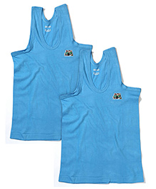 Ben 10 Sleeveless Set Of 2 Vests - Blue