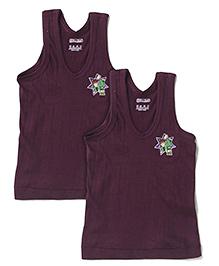 Ben 10 Sleeveless Set Of 2 Vests - Dark Purple