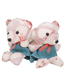 Curtain Holder Teddy Soft Toy - Pink Sea Green