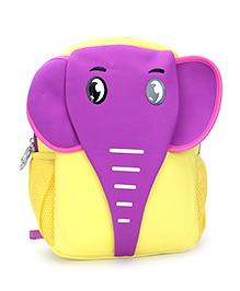 Elephant Design School Bag Yellow - 12 Inches