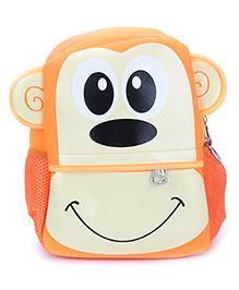 Monkey Design School Bag Orange - 11 Inches