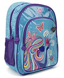 Safari Bags Princess Print Backpack Blue - 16 inches