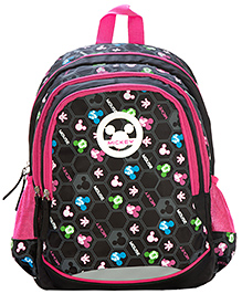 Safari Bags Mickey Mouse Beehive Print Backpack Black - 19 inches