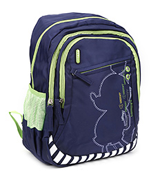 Safari Bags Shadow Print School Backpack Blue - 15 inches