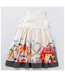 MilkTeeth Circus Print Dress - Off White