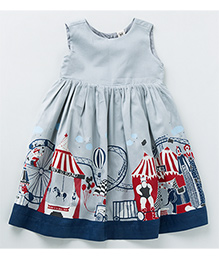 MilkTeeth Circus Print Dress - Grey