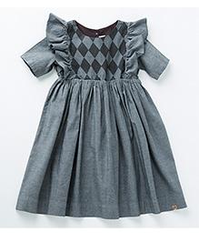 MilkTeeth Harlequin Dress - Mid Grey