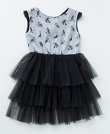 MilkTeeth Acrobat Dress - Light Grey