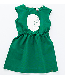 MilkTeeth Balloon Print Dress - Green