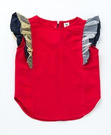 MilkTeeth Butterfly Sleeves Top - Red