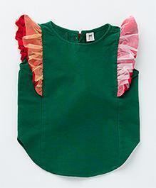 MilkTeeth Butterfly Sleeves Top - Green