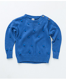 MilkTeeth Unisex Juggling Ball Sweater - Bright Blue