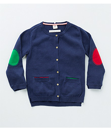 MilkTeeth Alfalfa Cardigan - Navy Blue