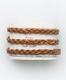 MilkTeeth Braided Belt - Brown