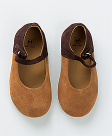 MilkTeeth Stylish Mary Jane Shoes - Tan Brown