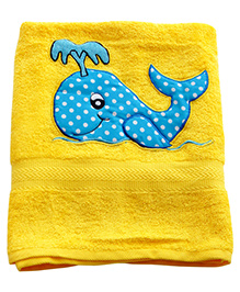 Sweet Somethings By Swati Willie The Whale Bath Towel - Yellow