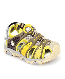 Cute Walk by Babyhug Floater Sandals - Yellow