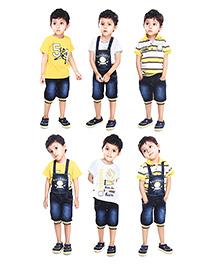N-XT 4 Piece Clothing Set - Yellow Blue