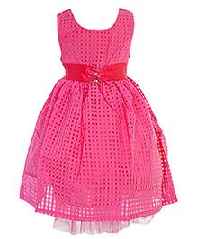 Party Princess Saturn Belt With Broch Dress - Pink