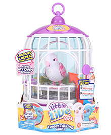 Little Live Pets Bird With Cage - Purple