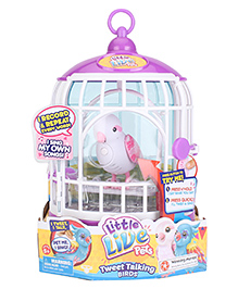 Little Live Pets Bird With Cage - Purple Blue
