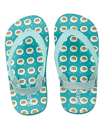 Flipside Hoglets Theme Flip Flops With Back Straps - Green