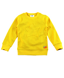 Cherry Crumble California Waffle Crew Neck Sweatshirt - Sunshine Yellow