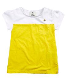 Cherry Crumble California Short Sleeved Tee - Yellow & White