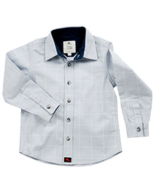 Cherry Crumble California Broken Lines Checkered Shirt - Light Blue