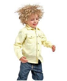 Cherry Crumble California Classic Double Pocket Shirt - Lemon Yellow