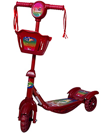 Cosmic Zoomer 3 Wheels Kids Fun Scooter - Red