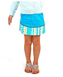 Cherry Crumble California Skirt - Turquoise Blue