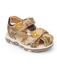 Cute Walk by Babyhug Floater Sandals Camouflage Design - Beige