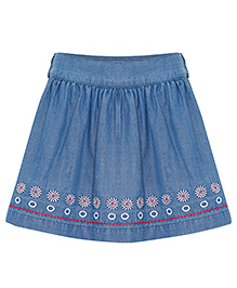 FS Mini Klub Skirt Floral Embroidery - Blue