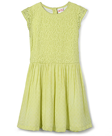 FS Mini Klub Short Sleeves Party Frock - Light  Green